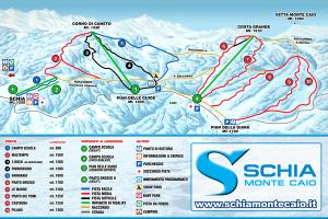 Mappa Piste Schia Monte Caio